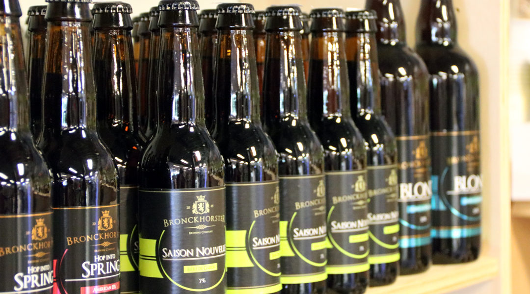 ambachtelijke bieren van de Bronckorst Brewing Company bij Van Sinckel