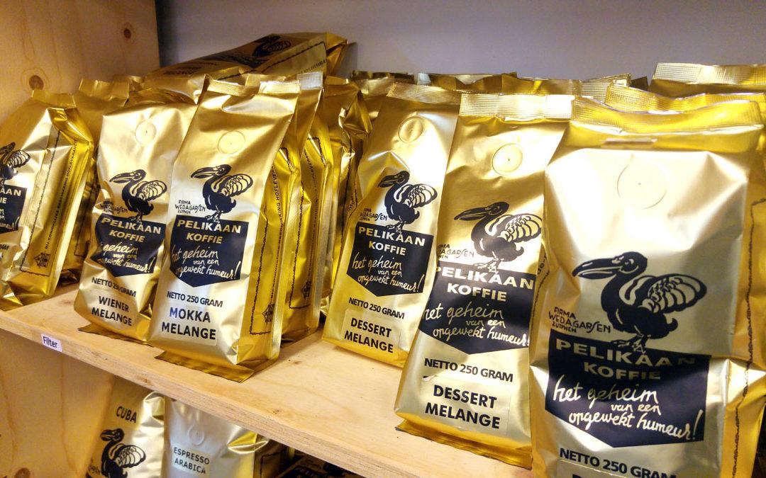 Koffie filter en bonen van De Pelikaan in Vorden