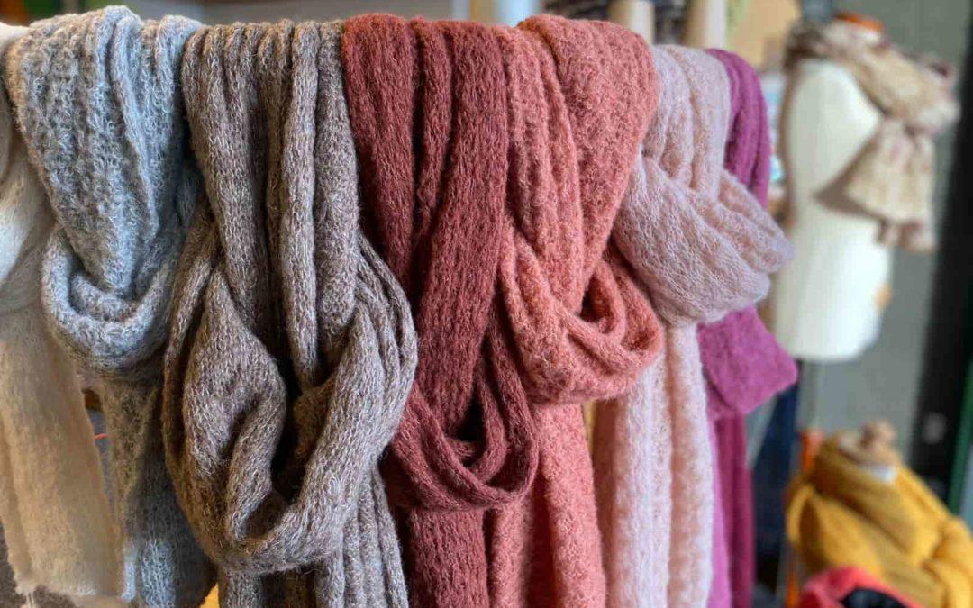 Handgebreide wollen sjaals alpaca Vorden
