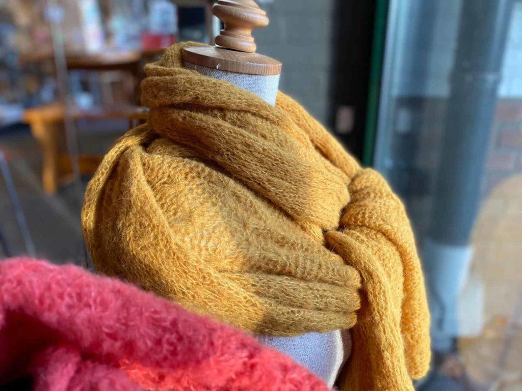 Gebreide wollen sjaals alpaca Vorden