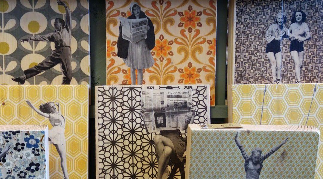 Retro kunstwerken van De Miek Fabriek bij Van Sinckel in Vorden