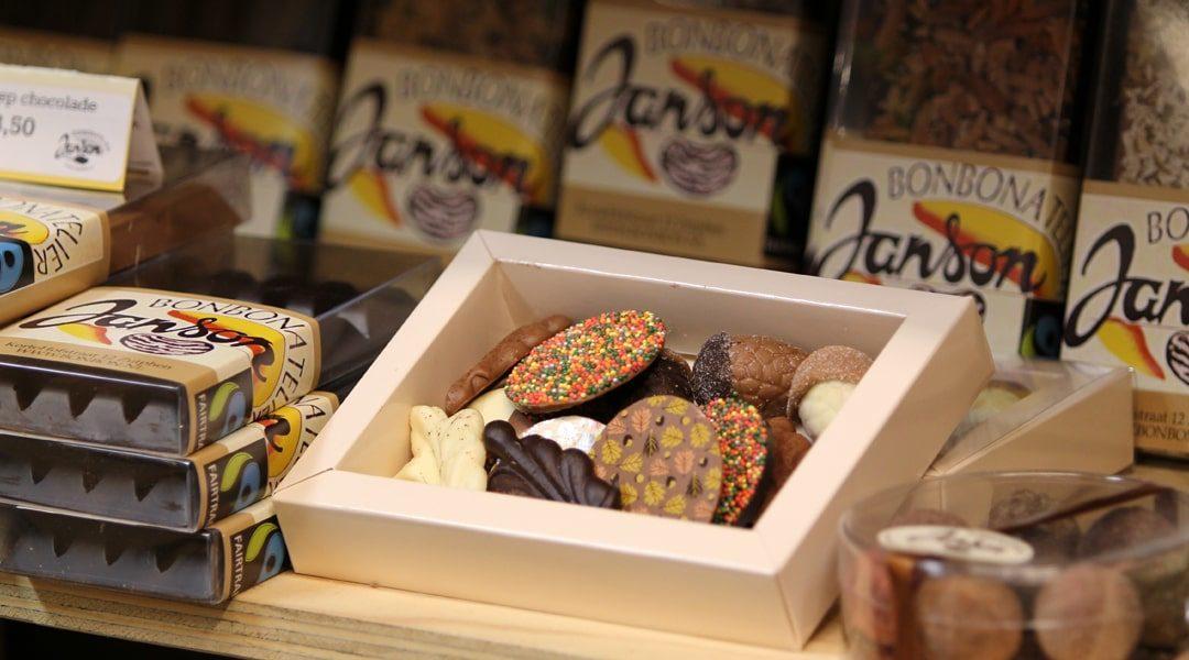 chocolade van bonbonatelier Janson in Vorden