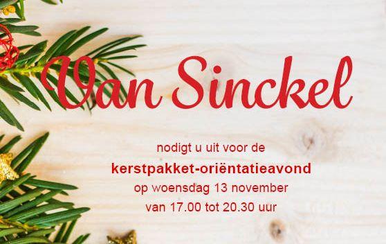 Kerstpakketten bij Van Sinckel kerstpakket-oriëntatieavond