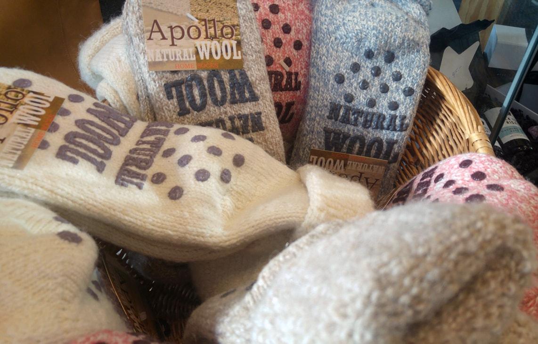 Wollen sokken met antislip voor yoga